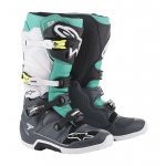 Alpinestars Crosslaarzen Tech 7 - Donker Grijs / Teal / Wit
