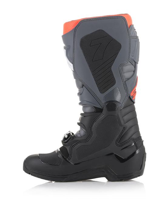Alpinestars Tech 7 Enduro Off-Road Motocross Boot 7 US, Black Gray Red Fluo