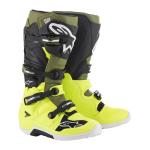Alpinestars Crosslaarzen Tech 7 - Geel Fluo / Militair Groen / Zwart