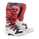 Alpinestars Crosslaarzen Tech 7 - Wit / Rood / Burgundy
