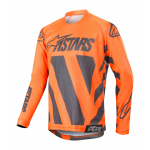 Alpinestars Kinder Cross Shirt 2019 Racer Braap - Antraciet / Oranje Fluo