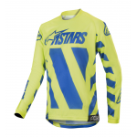 Alpinestars Kinder Cross Shirt 2019 Racer Braap - Blauw / Geel Fluo