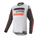 Alpinestars Kinder Cross Shirt 2019 Racer Tactical - Zwart / Grijs / Rood Fluo