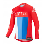 Alpinestars Kinder Cross Shirt 2019 Venom - Rood / Wit / Blauw