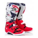 Alpinestars Crosslaarzen Tech 7 LE Five Star - Grijs / Rood