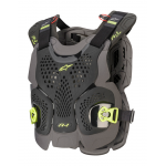 Alpinestars Bodyprotector A-1 Plus - Zwart / Antraciet / Fluo Geel