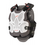 Alpinestars Bodyprotector A-4 MAX - Wit / Antraciet / Rood