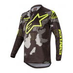 Alpinestars Cross Shirt 2020 Racer Tactical - Zwart / Camo / Geel