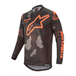 Alpinestars Cross Shirt 2020 Racer Tactical - Zwart / Camo / Oranje