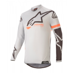Alpinestars Cross Shirt 2020 Racer Tech Compass - Licht Grijs / Zwart