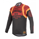 Alpinestars Cross Shirt 2020 Racer Tech Flagship - Zwart / Bordeaux
