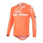 Alpinestars Cross Shirt 2020 Supertech - Fluo Oranje / Wit / Blauw