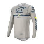 Alpinestars Cross Shirt 2020 Supertech - Grijs / Navy / Fluo Geel