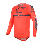 Alpinestars Cross Shirt 2020 Supertech - Rood / Navy / Wit