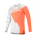 Alpinestars Cross Shirt 2020 Techstar Factory Metal - Wit / Oranje