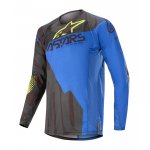 Alpinestars Cross Shirt 2020 Techstar Factory - Zwart / Blauw / Geel