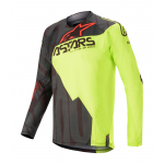 Alpinestars Cross Shirt 2020 Techstar Factory - Zwart / Geel / Rood
