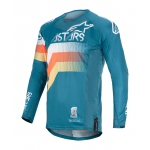 Alpinestars Cross Shirt 2020 Techstar Venom - Petrol / Wit / Oranje