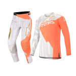 Alpinestars Crosskleding 2020 Techstar Factory Metal - Wit / Oranje