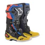 Alpinestars Crosslaarzen Tech 10 - Zwart / Geel / Blauw / Fluo Rood