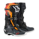 Alpinestars Crosslaarzen Tech 10 - Zwart / Grijs / Oranje / Fluo Rood