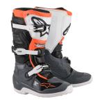 Alpinestars Crosslaarzen Tech 7S - Zwart / Grijs / Wit / Fluo Oranje