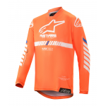 Alpinestars Kinder Cross Shirt 2020 Racer Tech - Oranje / Wit / Blauw