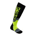 Alpinestars Kinder Cross Sokken MX PLUS-2 - Zwart / Fluo Geel