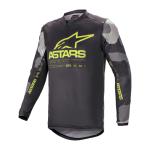 Alpinestars Cross Shirt 2021 Racer Tactical - Grijs Camo / Fluo Geel