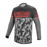 Alpinestars Cross Shirt 2022 Venture R - Grijs Camo / Fluo Rood