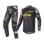 Alpinestars Crosskleding 2021 Racer Tactical - Grijs Camo / Fluo Geel