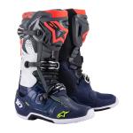 Alpinestars Crosslaarzen Tech 10 - Donker Grijs / Donker Blauw / Fluo Rood