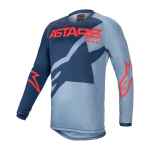 Alpinestars Kinder Cross Shirt 2021 Racer Braap - Blauw / Rood