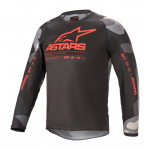 Alpinestars Kinder Cross Shirt 2021 Racer Tactical - Grijs Camo / Fluo Rood