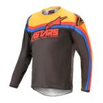 Alpinestars Kinder Cross Shirt 2021 Racer Venom - Zwart / Rood / Oranje
