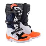 Alpinestars Kinder Crosslaarzen Tech 7S - Zwart / Wit / Fluo Oranje