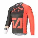 Alpinestars Kinder Cross Shirt 2021 Racer Compass - Antraciet / Rood / Wit