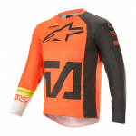 Alpinestars Kinder Cross Shirt 2021 Racer Compass - Oranje / Antraciet / Wit