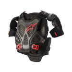 Alpinestars Bodyprotector A-6 - Zwart / Antraciet / Rood