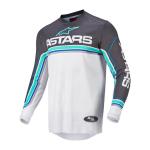 Alpinestars Cross Shirt 2022 Fluid Speed - Antraciet / Grijs / Blauw