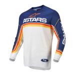 Alpinestars Cross Shirt 2022 Fluid Speed - Blauw / Wit / Oranje