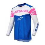Alpinestars Cross Shirt 2022 Fluid Triple - Blauw / Wit / Fluo Roze
