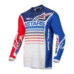 Alpinestars Cross Shirt 2022 Racer Compass - Wit / Rood / Blauw