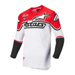 Alpinestars Cross Shirt 2022 Racer Flagship - Wit / Fluo Rood / Zwart
