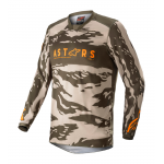 Alpinestars Cross Shirt 2022 Racer Tactical - Sand / Camo / Tangerine