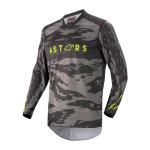Alpinestars Cross Shirt 2022 Racer Tactical - Zwart / Grijs / Camo / Fluo Geel