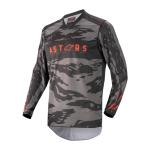 Alpinestars Cross Shirt 2022 Racer Tactical - Zwart / Grijs / Camo / Fluo Rood