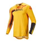 Alpinestars Cross Shirt 2022 Supertech Blaze - Geel / Zwart / Fluo Rood