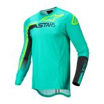 Alpinestars Cross Shirt 2022 Supertech Blaze - Groen / Zwart / Fluo Geel