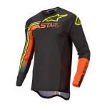 Alpinestars Cross Shirt 2022 Supertech Blaze - Zwart / Oranje / Fluo Geel